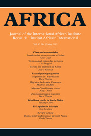 Africa Volume 87 - Issue 2 -