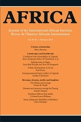 Africa Volume 88 - Issue 1 -
