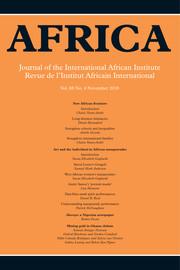 Africa Volume 88 - Issue 4 -