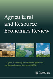 Agricultural and Resource Economics Review Volume 45 - Issue 3 -