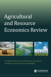 Agricultural and Resource Economics Review Volume 47 - Issue 3 -