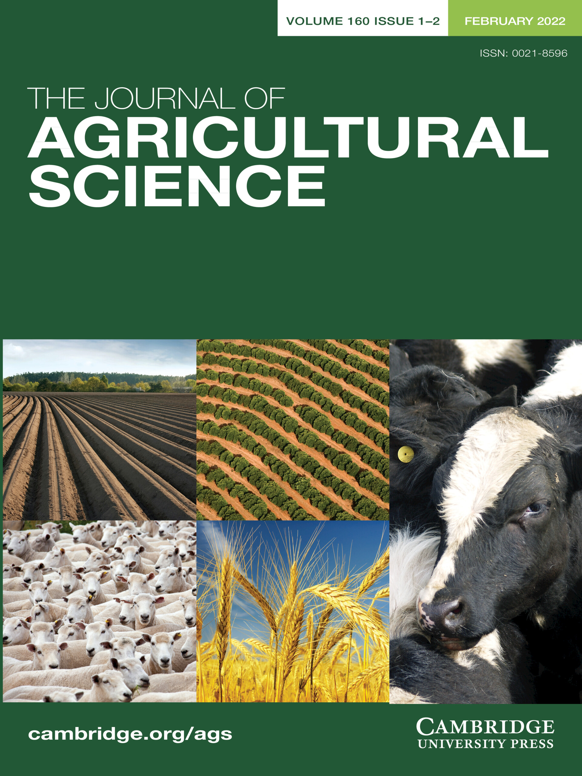 The Journal of Agricultural Science | Cambridge Core