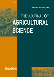 The Journal of Agricultural Science Volume 140 - Issue 2 -