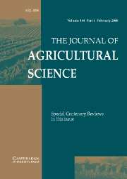 The Journal of Agricultural Science Volume 144 - Issue 1 -