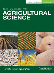 The Journal of Agricultural Science Volume 150 - Issue 4 -