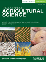 The Journal of Agricultural Science Volume 150 - Issue 5 -