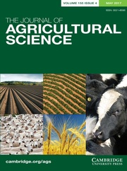 The Journal of Agricultural Science Volume 155 - Issue 4 -