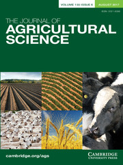 The Journal of Agricultural Science Volume 155 - Issue 6 -