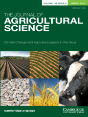 The Journal of Agricultural Science Volume 156 - Issue 2 -