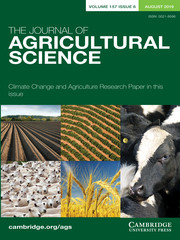 The Journal of Agricultural Science Volume 157 - Issue 6 -