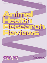 Animal Health Research Reviews Volume 11 - Issue 2 -