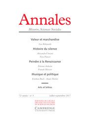 Annales. Histoire, Sciences Sociales Volume 72 - Issue 3 -