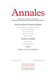 Annales. Histoire, Sciences Sociales Volume 73 - Issue 1 -