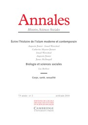 Annales. Histoire, Sciences Sociales Volume 73 - Issue 2 -
