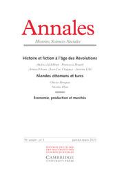 Annales. Histoire, Sciences Sociales Volume 76 - Issue 1 -