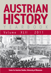 Austrian History Yearbook Volume 42 - Issue  -