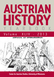 Austrian History Yearbook Volume 44 - Issue  -