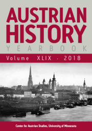 Austrian History Yearbook Volume 49 - Issue  -