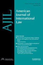 American Journal of International Law Volume 111 - Issue 3 -
