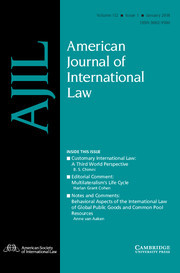 American Journal of International Law Volume 112 - Issue 1 -