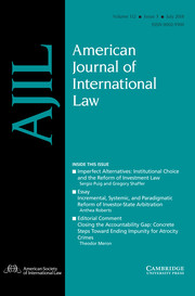 American Journal of International Law Volume 112 - Issue 3 -