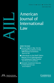 American Journal of International Law Volume 112 - Issue 4 -