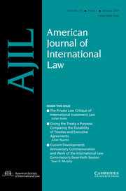 American Journal of International Law Volume 113 - Issue 1 -