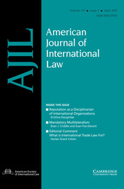 American Journal of International Law Volume 113 - Issue 2 -