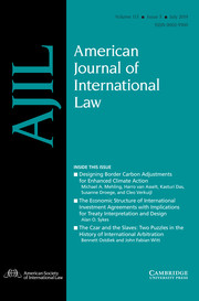 American Journal of International Law Volume 113 - Issue 3 -