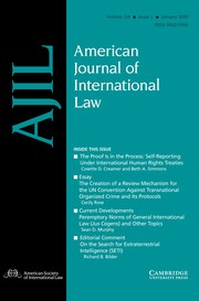 American Journal of International Law Volume 114 - Issue 1 -