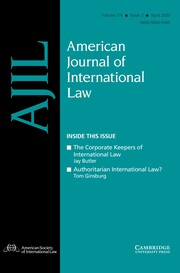 American Journal of International Law Volume 114 - Issue 2 -