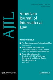 American Journal of International Law Volume 114 - Issue 3 -