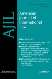 American Journal of International Law Volume 114 - Issue 4 -