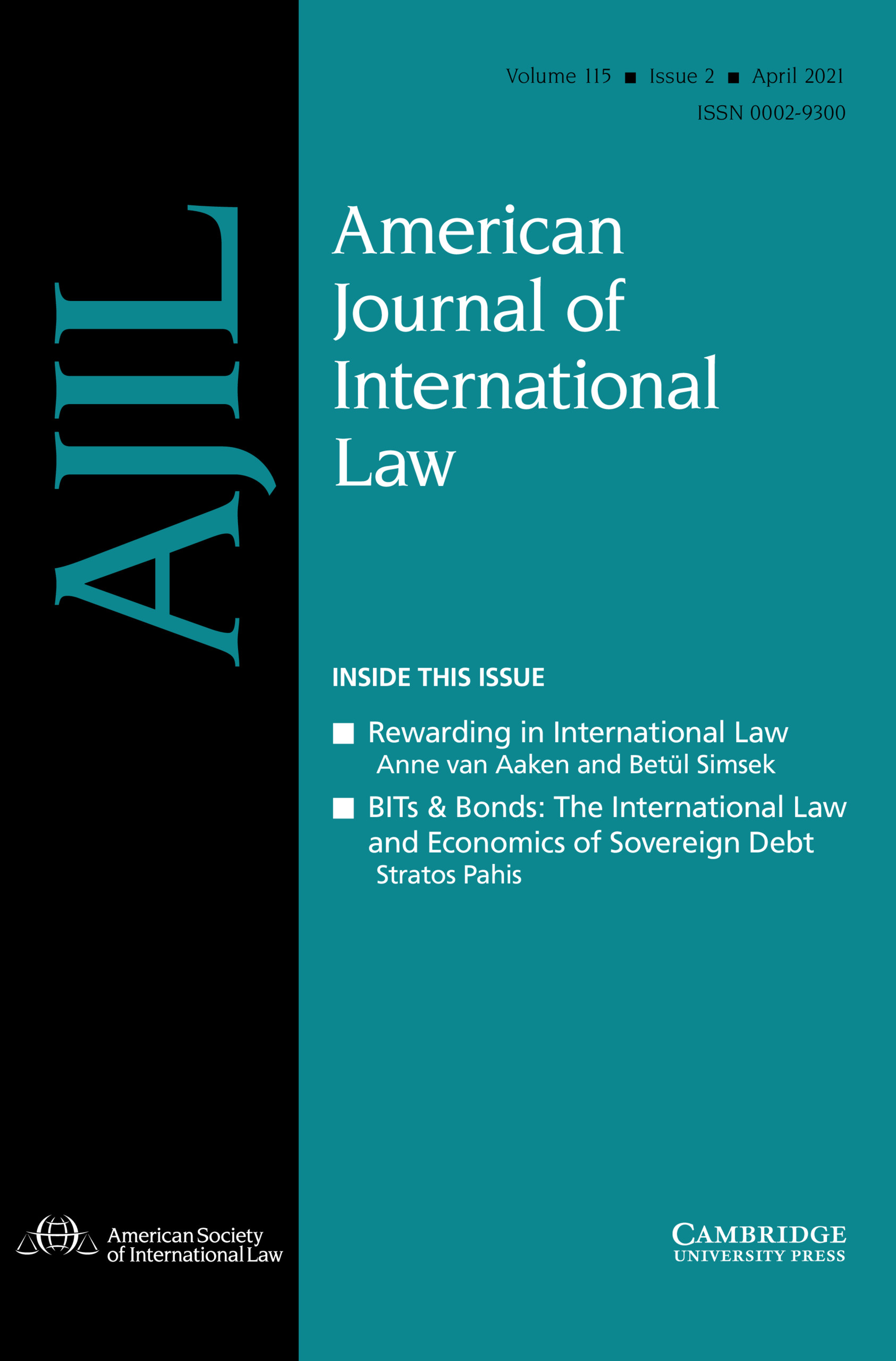 American Journal of International Law Volume 115 - Issue 2 -