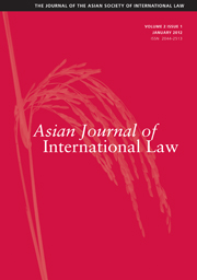 Asian Journal of International Law Volume 2 - Issue 1 -
