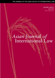 Asian Journal of International Law Volume 3 - Issue 2 -