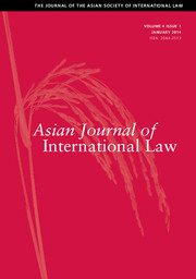 Asian Journal of International Law Volume 4 - Issue 1 -