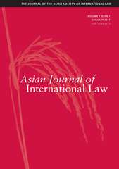 Asian Journal of International Law Volume 7 - Issue 1 -
