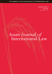 Asian Journal of International Law Volume 8 - Issue 2 -