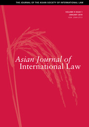 Asian Journal of International Law Volume 9 - Issue 1 -