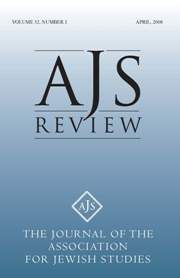 AJS Review Volume 32 - Issue 1 -