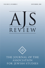 AJS Review Volume 32 - Issue 2 -