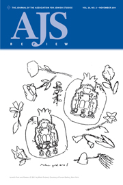 AJS Review Volume 35 - Issue 2 -