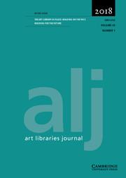 Art Libraries Journal Volume 43 - Issue 1 -