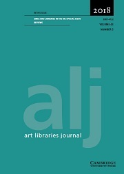Art Libraries Journal Volume 43 - Special Issue2 -  Zines and Libraries in the UK