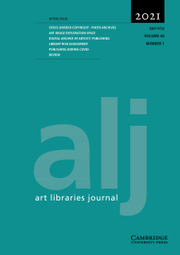 Art Libraries Journal Volume 46 - Issue 1 -