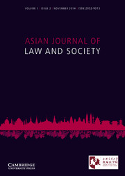 Asian Journal of Law and Society Volume 1 - Issue 2 -