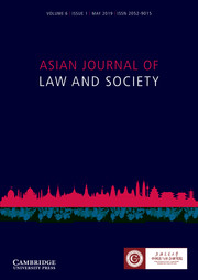 Asian Journal of Law and Society Volume 6 - Issue 1 -