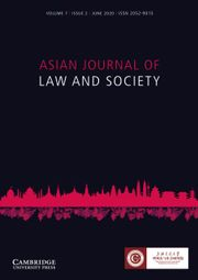 Asian Journal of Law and Society Volume 7 - Issue 2 -