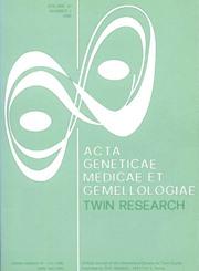 Acta geneticae medicae et gemellologiae: twin research